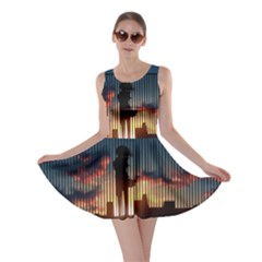 Art Sunset Anime Afternoon Skater Dress