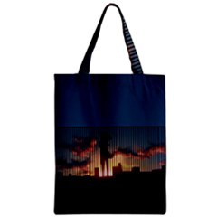 Art Sunset Anime Afternoon Zipper Classic Tote Bag