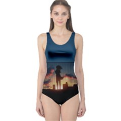 Art Sunset Anime Afternoon One Piece Swimsuit