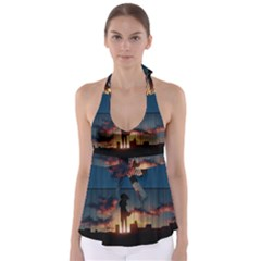 Art Sunset Anime Afternoon Babydoll Tankini Top