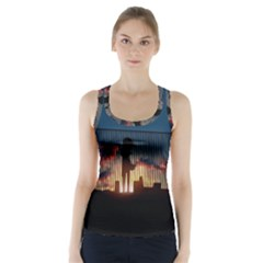 Art Sunset Anime Afternoon Racer Back Sports Top