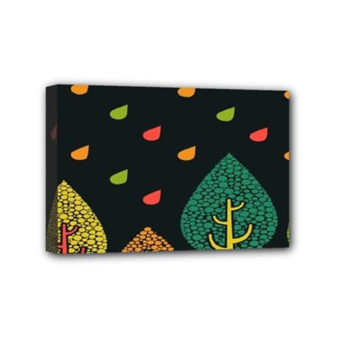 Vector Color Tree Mini Canvas 6  x 4