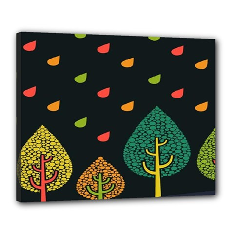Vector Color Tree Canvas 20  X 16
