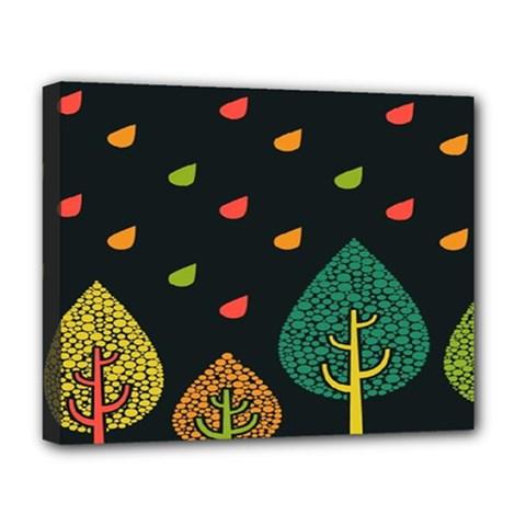 Vector Color Tree Deluxe Canvas 20  X 16
