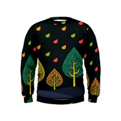 Vector Color Tree Kids  Sweatshirt