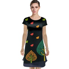 Vector Color Tree Cap Sleeve Nightdress