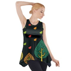 Vector Color Tree Side Drop Tank Tunic