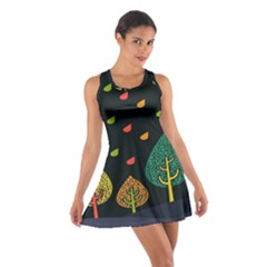 Vector Color Tree Cotton Racerback Dress