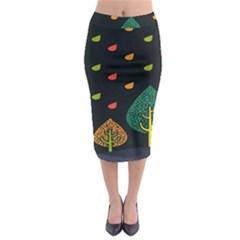 Vector Color Tree Midi Pencil Skirt