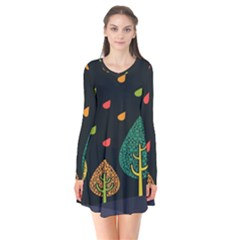 Vector Color Tree Flare Dress
