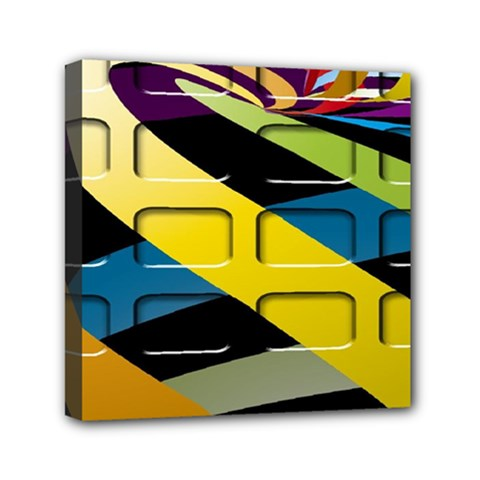 Colorful Docking Frame Mini Canvas 6  X 6