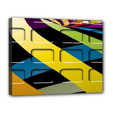 Colorful Docking Frame Canvas 14  x 11