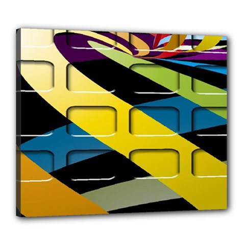 Colorful Docking Frame Canvas 24  X 20