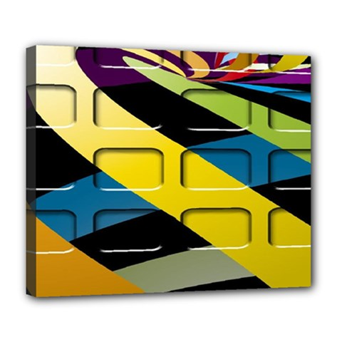 Colorful Docking Frame Deluxe Canvas 24  X 20