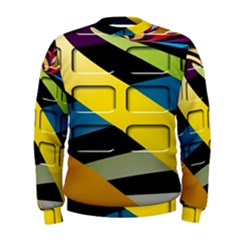 Colorful Docking Frame Men s Sweatshirt