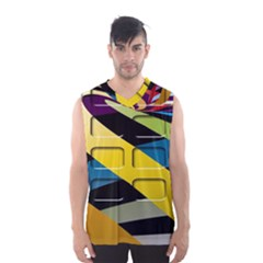 Colorful Docking Frame Men s Basketball Tank Top