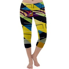 Colorful Docking Frame Capri Yoga Leggings