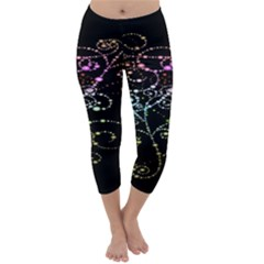 Sparkle Design Capri Winter Leggings
