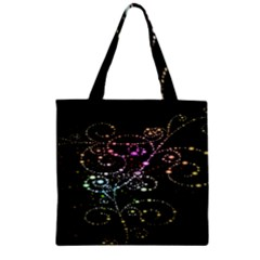 Sparkle Design Zipper Grocery Tote Bag