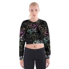 Sparkle Design Cropped Sweatshirt