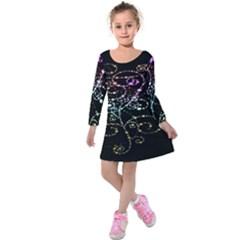 Sparkle Design Kids  Long Sleeve Velvet Dress