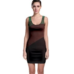 Color Vague Abstraction Sleeveless Bodycon Dress