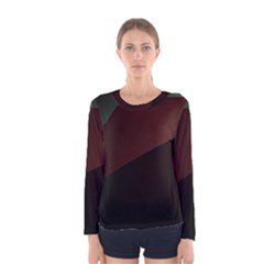 Color Vague Abstraction Women s Long Sleeve Tee