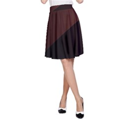 Color Vague Abstraction A-Line Skirt