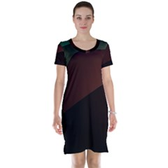Color Vague Abstraction Short Sleeve Nightdress