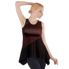 Color Vague Abstraction Side Drop Tank Tunic