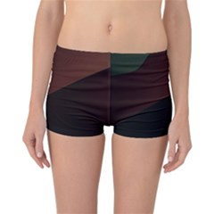 Color Vague Abstraction Reversible Boyleg Bikini Bottoms