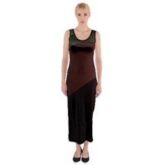 Color Vague Abstraction Fitted Maxi Dress