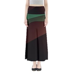 Color Vague Abstraction Full Length Maxi Skirt