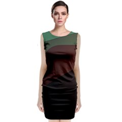 Color Vague Abstraction Classic Sleeveless Midi Dress