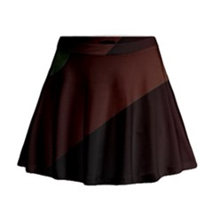 Color Vague Abstraction Mini Flare Skirt