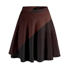 Color Vague Abstraction High Waist Skirt