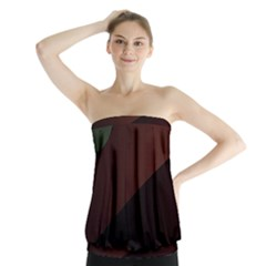 Color Vague Abstraction Strapless Top