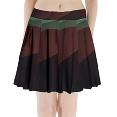 Color Vague Abstraction Pleated Mini Skirt