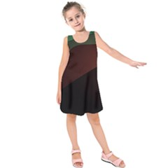 Color Vague Abstraction Kids  Sleeveless Dress