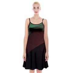 Color Vague Abstraction Spaghetti Strap Velvet Dress