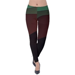 Color Vague Abstraction Velvet Leggings