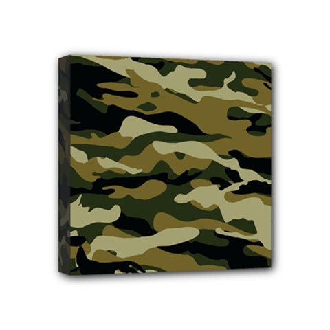 Military Vector Pattern Texture Mini Canvas 4  x 4