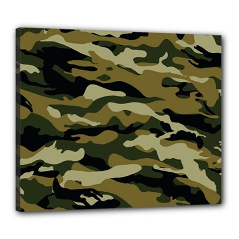 Military Vector Pattern Texture Canvas 24  x 20