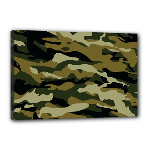 Military Vector Pattern Texture Canvas 18  X 12
