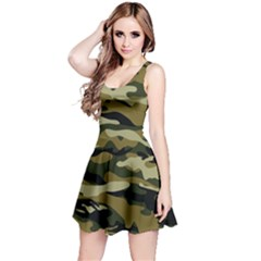Military Vector Pattern Texture Reversible Sleeveless Dress