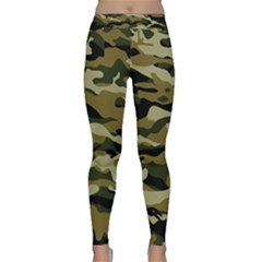 Military Vector Pattern Texture Classic Yoga Leggings