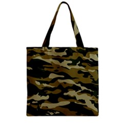 Military Vector Pattern Texture Zipper Grocery Tote Bag
