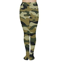 Military Vector Pattern Texture Women s Tights