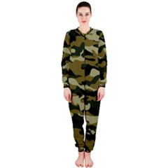 Military Vector Pattern Texture OnePiece Jumpsuit (Ladies)