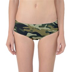 Military Vector Pattern Texture Classic Bikini Bottoms